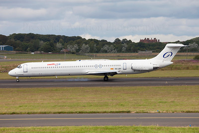 EC-JQV. McDonnell Douglas MD-83. Swift Air. Prestwick. 180709.