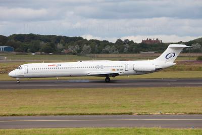 EC-JQV. McDonnell Douglas MD-83. Swift Air. Prestwick. 180709.