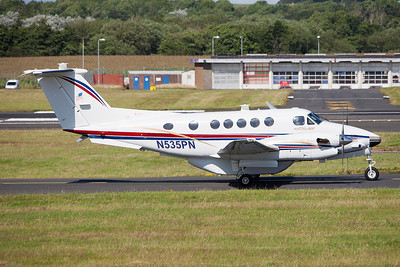 N535PN. Beechcraft B300 King Air. US Army. Prestwick. 190709.