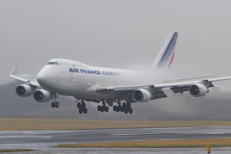 F-GIUC. Boeing 747-428F ER SCD. Air France Cargo. Prestwick. 140210.