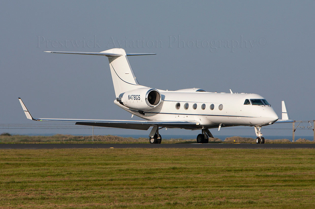 N478GS. Gulfstream Aerospace Gulfstream IV. Private. Prestwick. 040910.