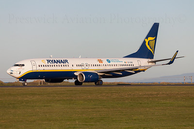 EI-DAE. Boeing 737-8AS. Ryanair. Prestwick. 120509.