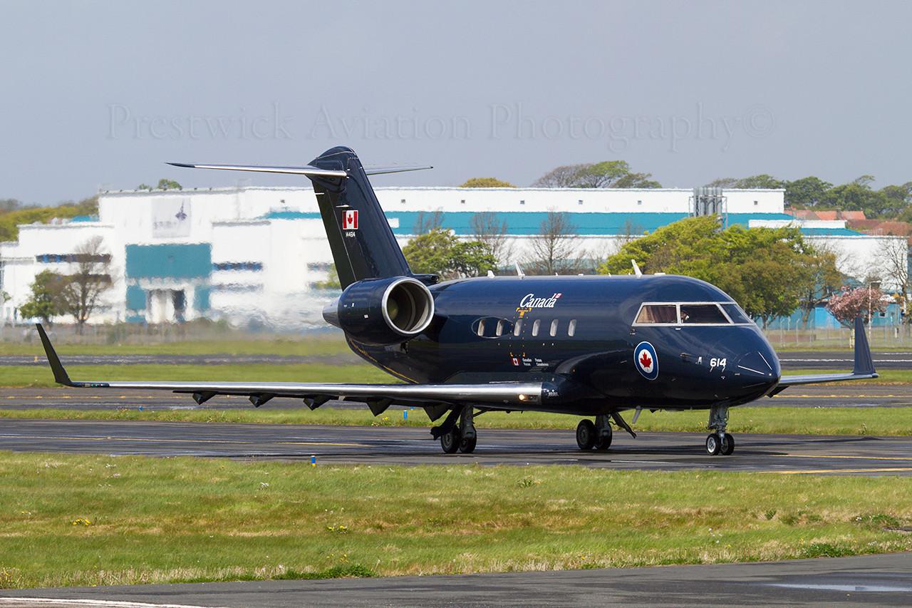144614. Canadair CC-144B Challenger. Canadian Air Force. Prestwick. 150510.