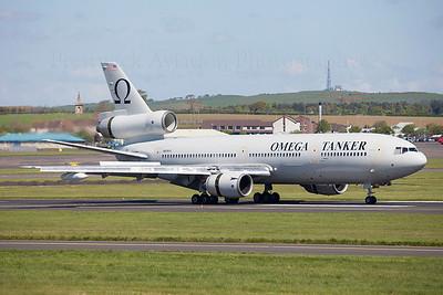 N974VV. McDonnell Douglas KDC-10-40I. Omega Air. Prestwick. 120509.