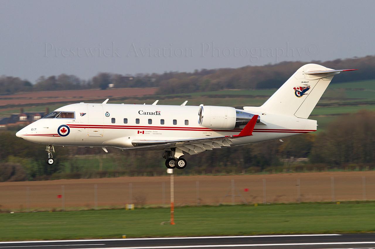 144617. Canadair CC-144C Challenger. Canadian Air Force. Prestwick. 100411