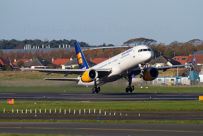 TF-FIR. Boeing 757-256. Icelandair. Prestwick. 071111.  Glasgow diversion.