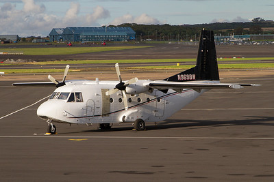 N969BW. CASA C-212 Aviocar. Untitled. Prestwick. 140811.