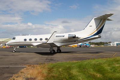 N868SM. Gulfstream American Gulfstream II-B. Private. Prestwick. 140811.
