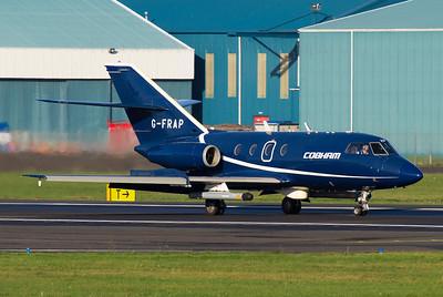 G-FRAP. Dassault Falcon 20DC. Cobham. Prestwick. 071111.