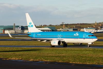 PH-BXE. Boeing 737-8K2. KLM. Prestwick. 181211.  Crew training KLM 737.