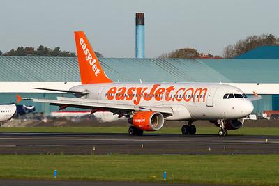 G-EZDV. Airbus A319-111. EasyJet. Prestwick. 071111.
