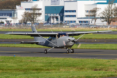 N9110Z. Cessna 182. Afghanistan Air Force. Prestwick. 260911.