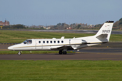 95-0123. Cessna UC-35A Citation Ultra. US Army. Prestwick. 260911.