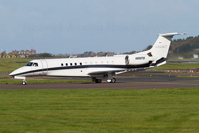 N809TD. Embraer EMB-135BJ Legacy. Private. Prestwick. 260911.