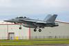 166681. Boeing FA-18F Hornet. US Navy. Prestwick. 200815.