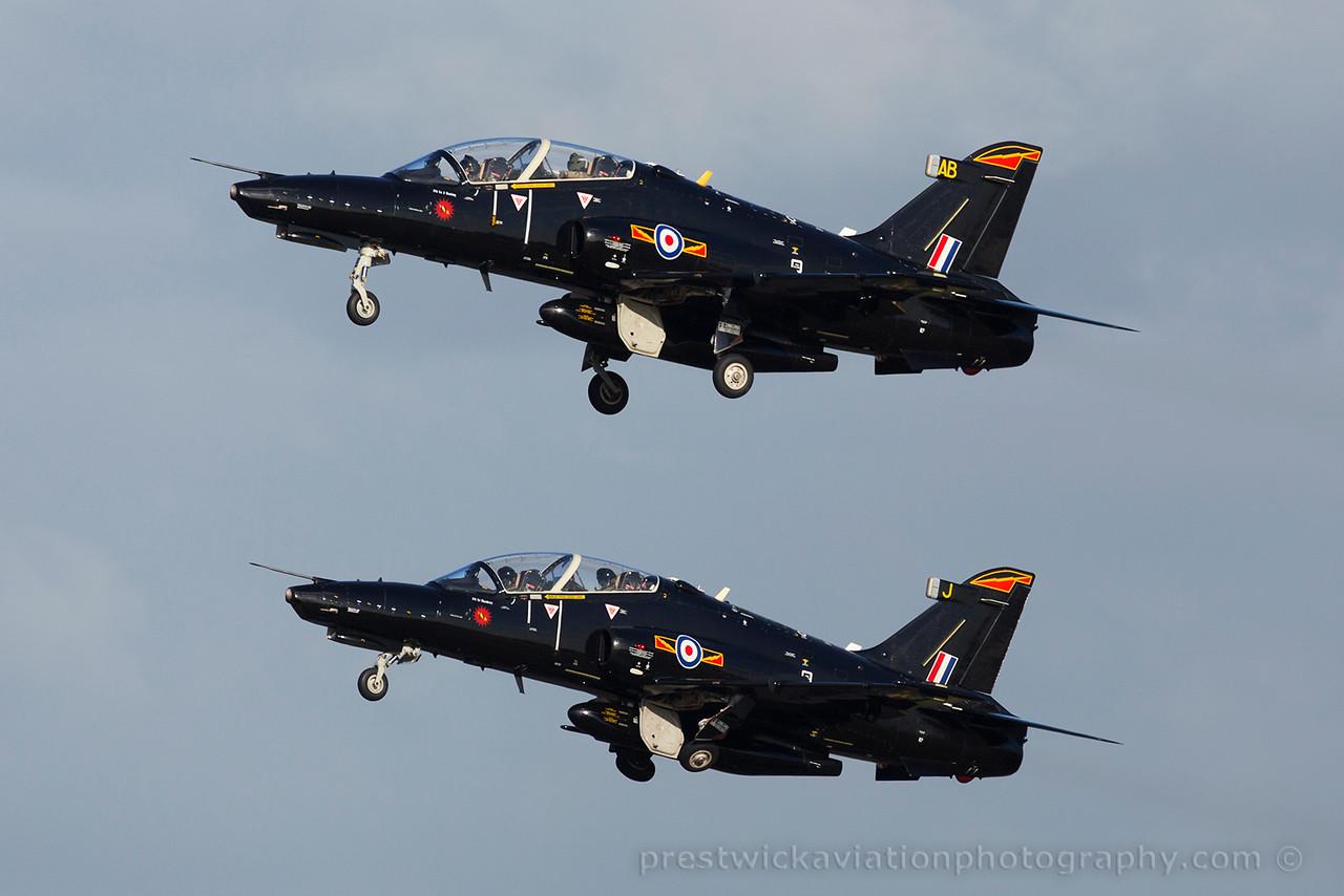 ZK037/ZK019. BAE Systems Hawk T2. RAF. Prestwick. 130315.