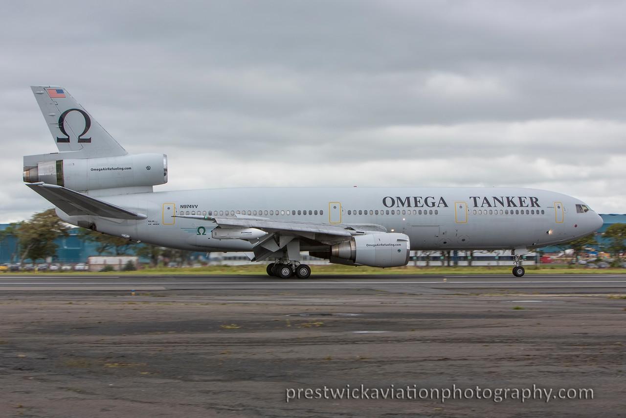 N974VV. McDonnell Douglas KDC-10-40I. Omega Air. Prestwick. 200815.