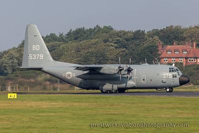 165379. Lockheed Martin C-130T Hercules. US Navy. Prestwick. 110915.