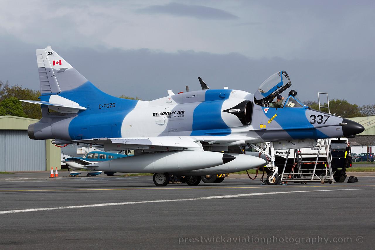 C-FGZS. McDonell Douglas A-4N Skyhawk. Discovery Air. Prestwick. 110515.