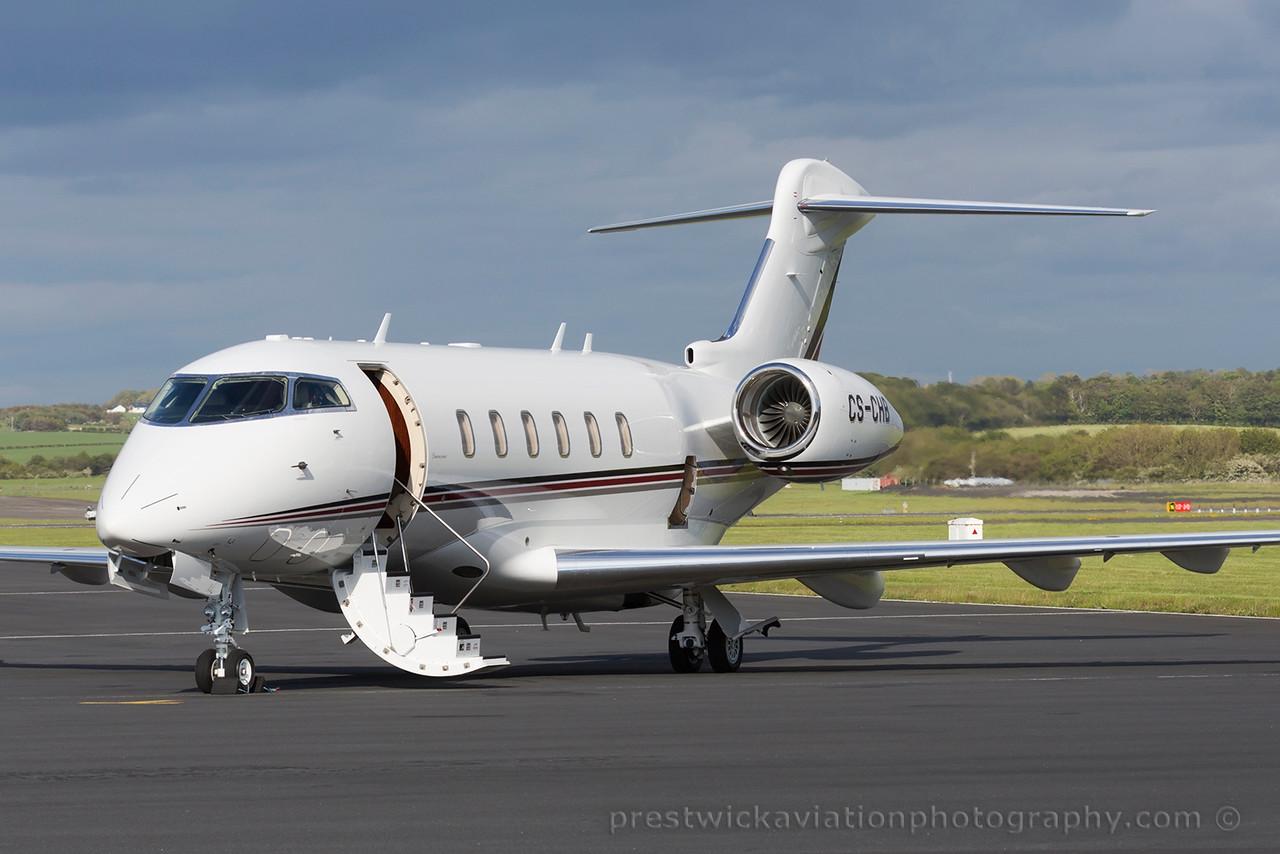 CS-CHB. Bombardier Challenger 350. Private. Prestwick. 080615.