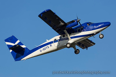 G-SGTS. De Havilland Canada DHC-6-400 Twin Otter. Loganair. Prestwick. 011115.