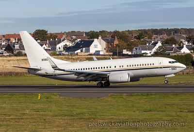 168980. Boeing C-40A Clipper. US Navy. Prestwick. 151015.