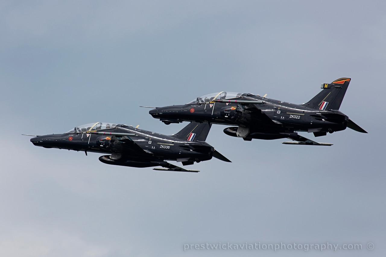 ZK022. BAE Systems Hawk T2. RAF. Prestwick. 020715.