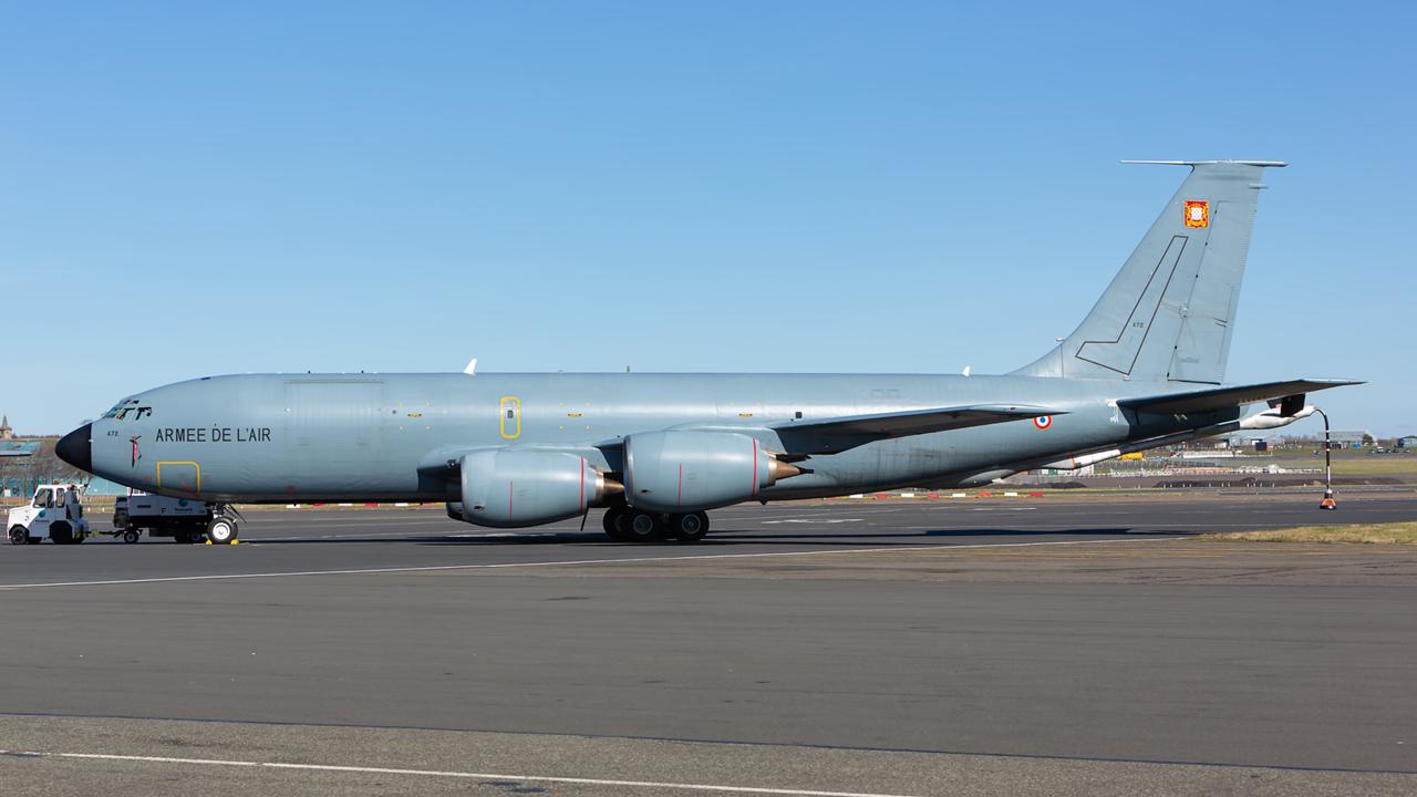 472/93-CC. Boeing C-135FR Stratotanker. French Air Force. Prestwick. 210315.