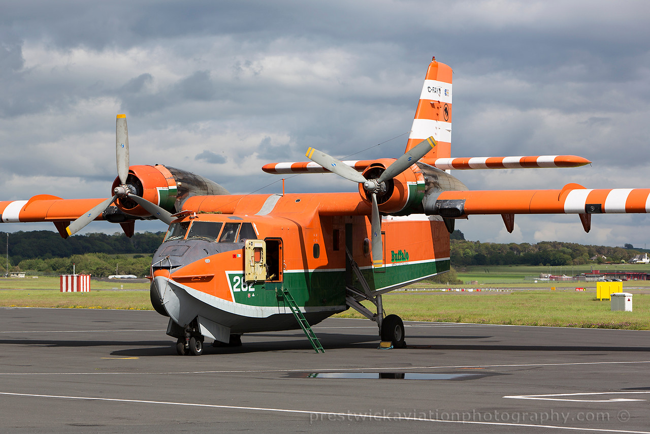 C-FAYN. Canadair CL-215-V. Buffalo Airways. Prestwick. 220615.