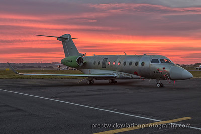 N286GA. Gulfstream Aerospace G280. Private. Prestwick. 271015.