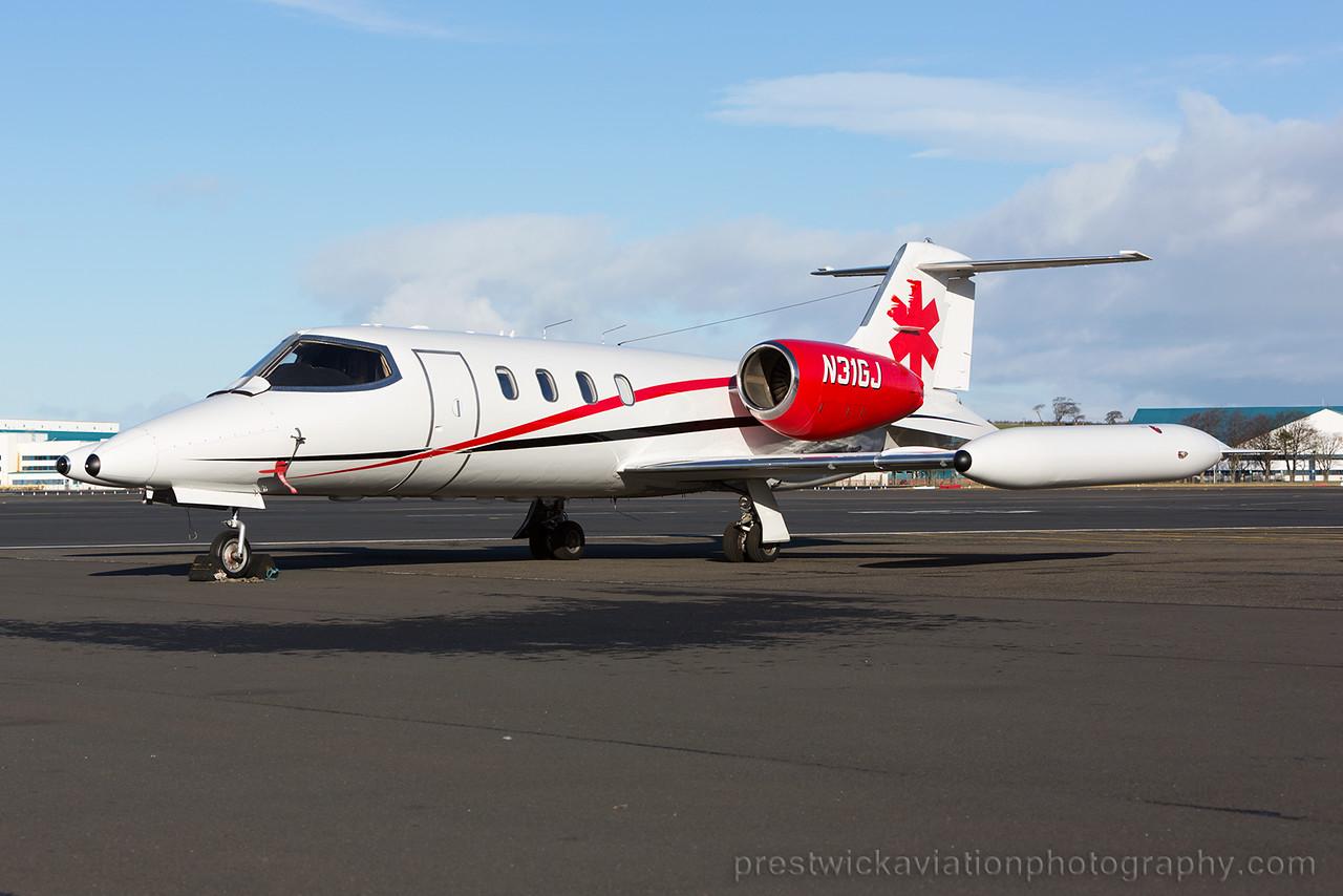 N31GJ. Gates Learjet 36A. Private. Prestwick. 310115.