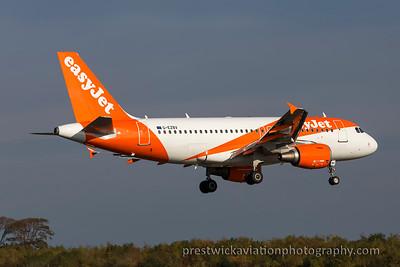G-EZBV. Airbus A311- 111. EasyJet. Prestwick. 271015.