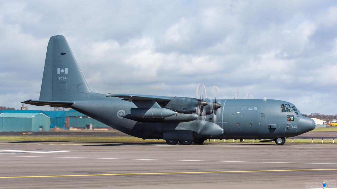 130341. Lockheed KCC-130H Hercules. Canadian Air Force. Prestwick. 110415.
