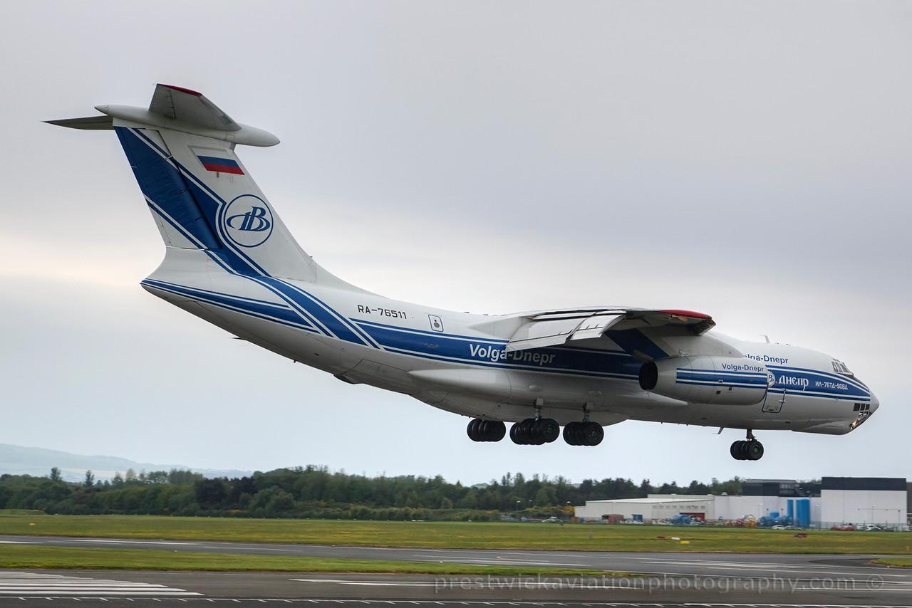 RA-76511. Ilyushin Il-76TD-90VD. Volga-Dnepr Airlines. Prestwick. 160615.