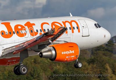G-EZBH. Airbus A319 - 111. EasyJet. Prestwick. 131015.