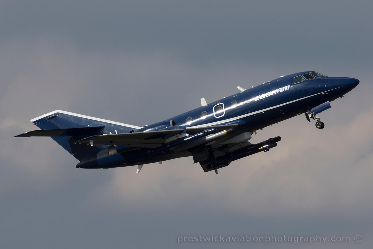 G-FRAI. Dassault Falcon 20E. Cobham. Prestwick. 170415.