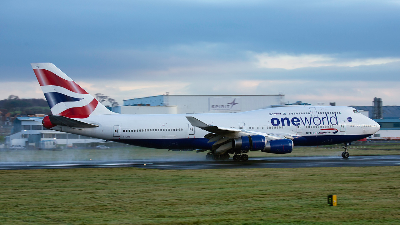 G-CIVC. Boeing 747-436. British Airways. Prestwick. 151215.
