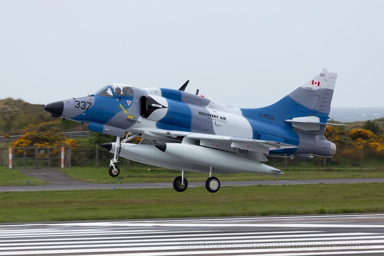 C-FGZS. McDonell Douglas A-4N Skyhawk. Discovery Air. Prestwick. 100515.