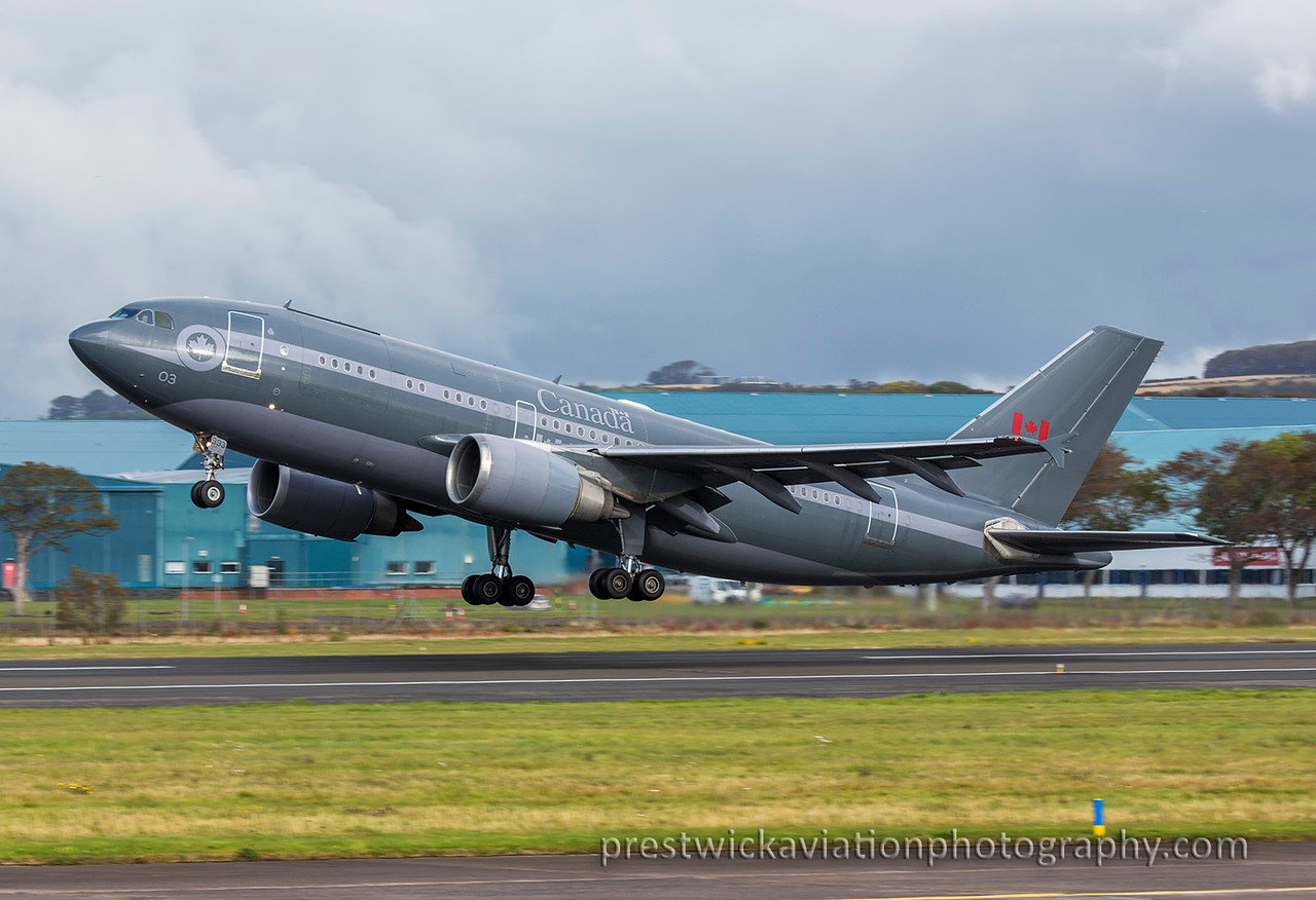 15003. Airbus CC-150 Polaris. Canadian Air Force. Prestwick. 091015.