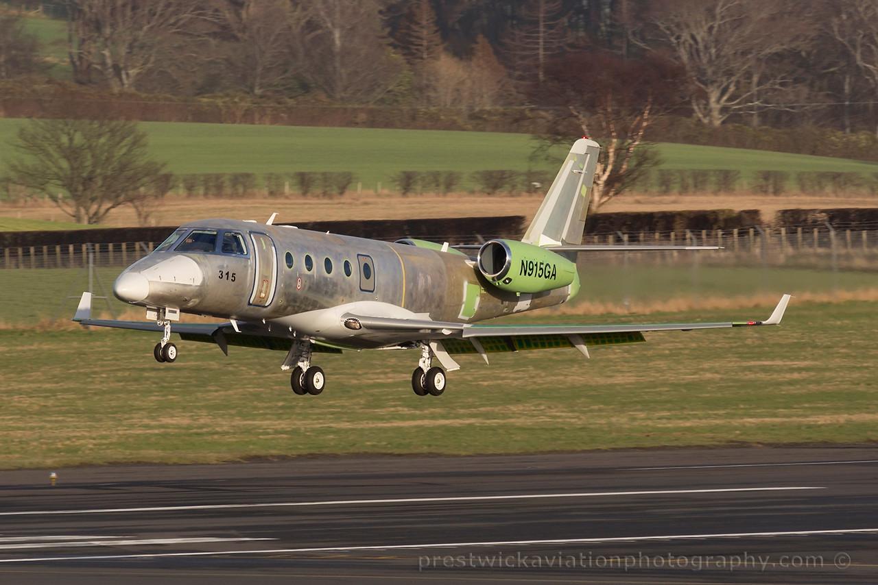 N915GA. Gulfstream G150. Private. Prestwick. 080315.