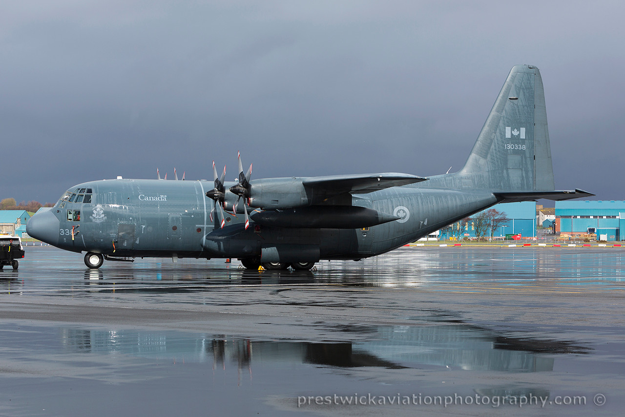 130338. Lockheed KCC-130H Hercules. Canadian Air Force.  Prestwick. 290315.