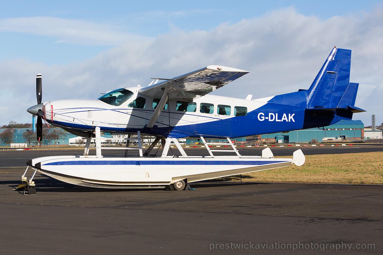 G-DLAK. Cessna 208 Caravan I. Private. Prestwick. 310115.