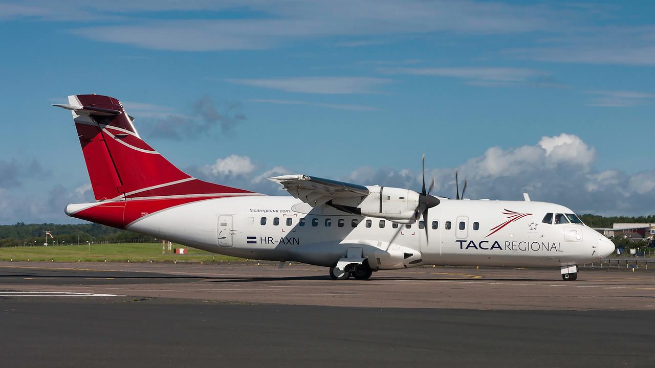 HR-AXN.  ATR-42-320. TACA Regional. Prestwick. 070815.