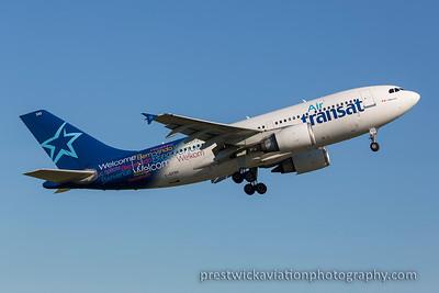 C-GTSH. Airbus A310-304. Air Transit. Prestwick. 011015.