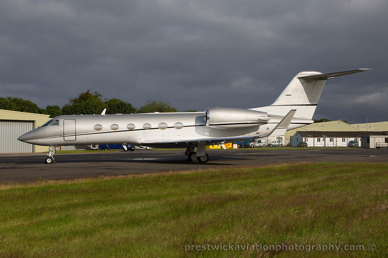 N770KS. Gulfstream Aerospace Gulfstream IV. Private. Prestwick. 120715.