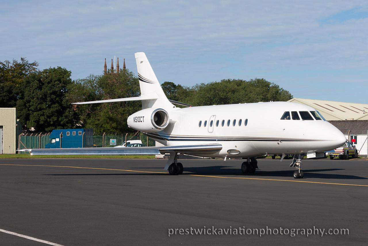 N510CT. Dassault Falcon 2000EX. Private. Prestwick. 070815.