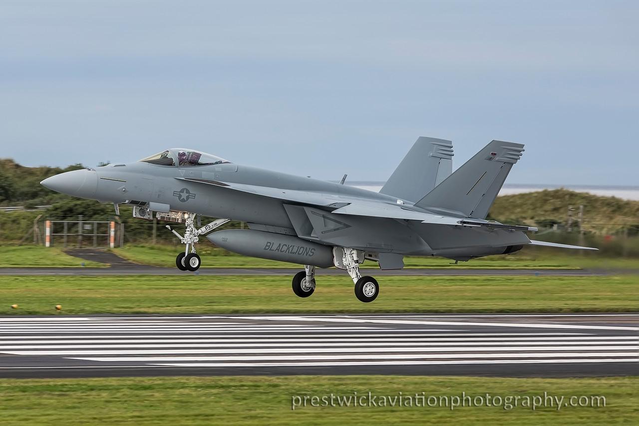 168927. Boeing FA-18E Hornet. US Navy. Prestwick. 200815.