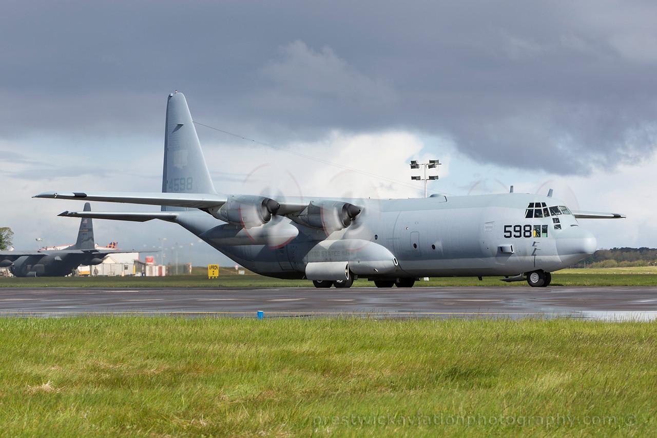 164598. Lockheed KC-130T Hercules. US Navy. Prestwick. 290515.