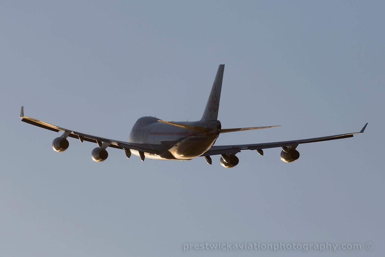 LX-LCV. Boeing 747-4R7F/SCD. Cargolux. Prestwick. 070615.