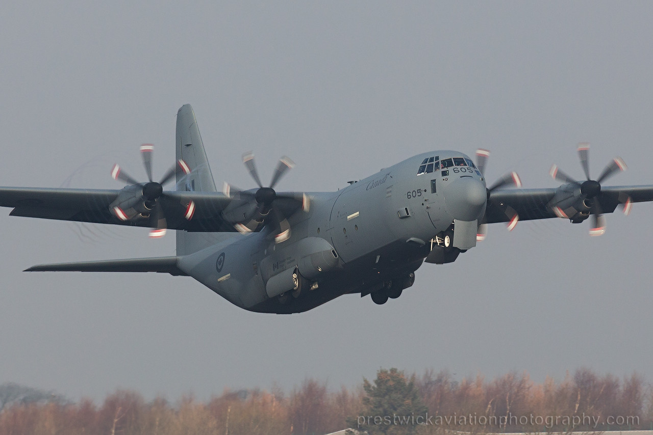 130605. Lockheed Martin CC-130J-30 Hercules. Canadian Air Force. Prestwick. 140215.